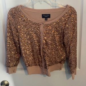American Eagle sequin cardigan.  Size XS.